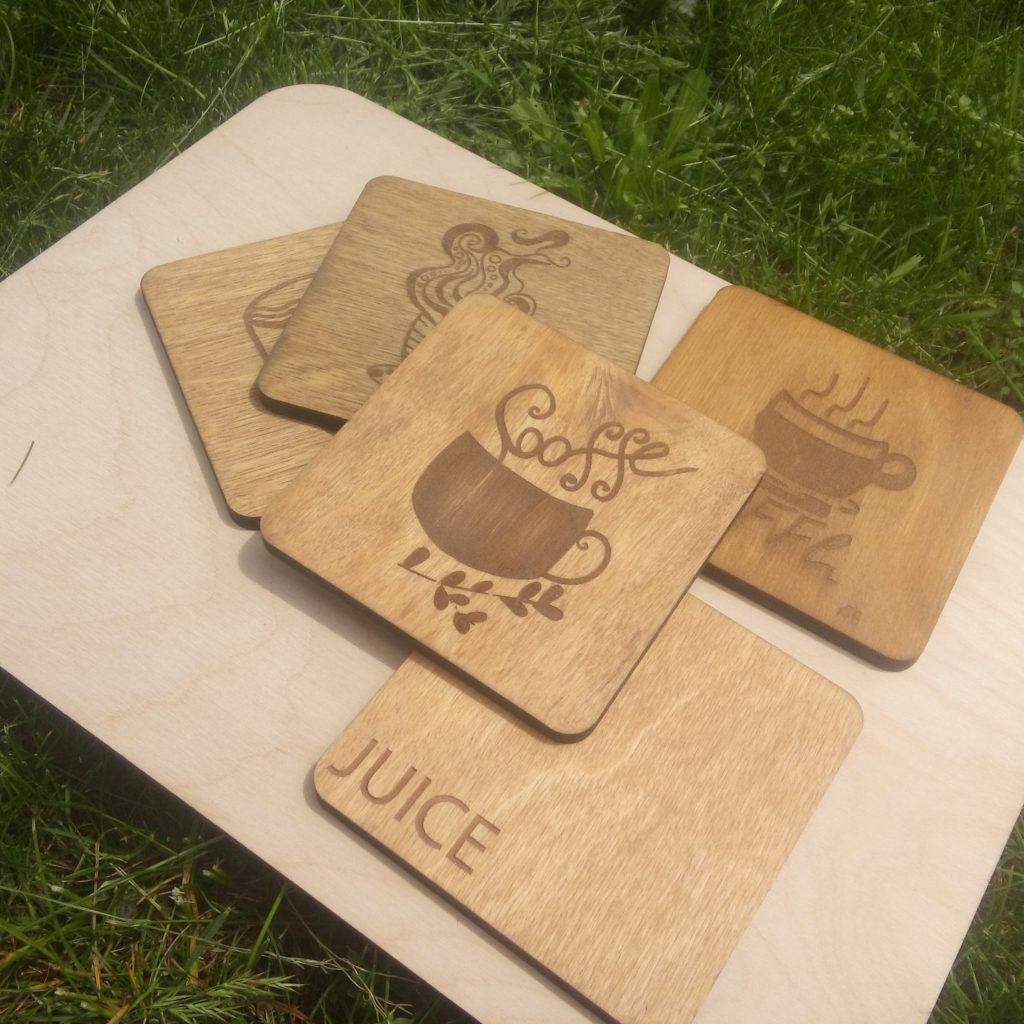 Подставки для кружек из дерева