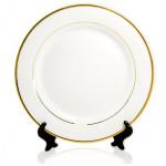 Тарелка керамическая белая каемка с золотыми в Бресте